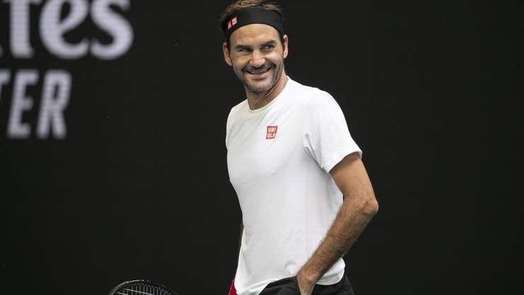 Roger Federer trainiert bereits in Melbourne.