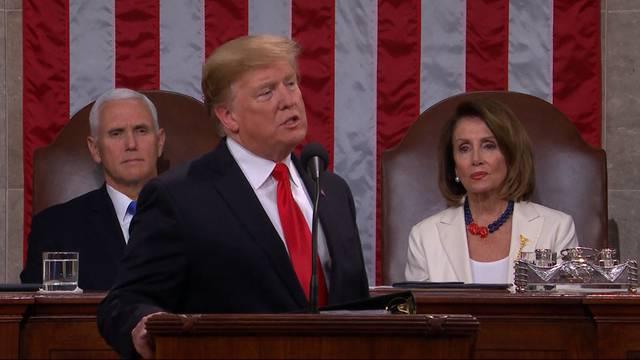 Die Mauer muss hin: Trumps Rede zur Lage der Nation