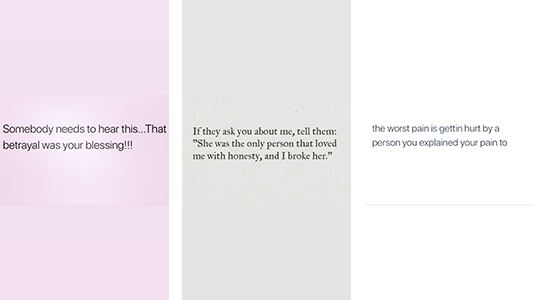 Mit diesen Posts beschreibt Khloé ihre momentane Gefühlslage. (Screenshots: Instagram/khloekardashian)