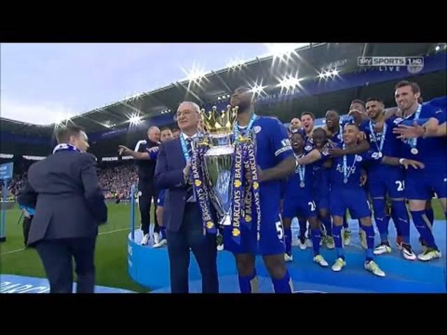 Die Titelfeier von Leicester City