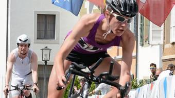 Martina Krähenbühl drehte auf der Radstrecke mächtig auf.