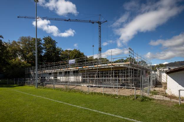 Im März will der FC Dulliken das moderne Gebäude beziehen.