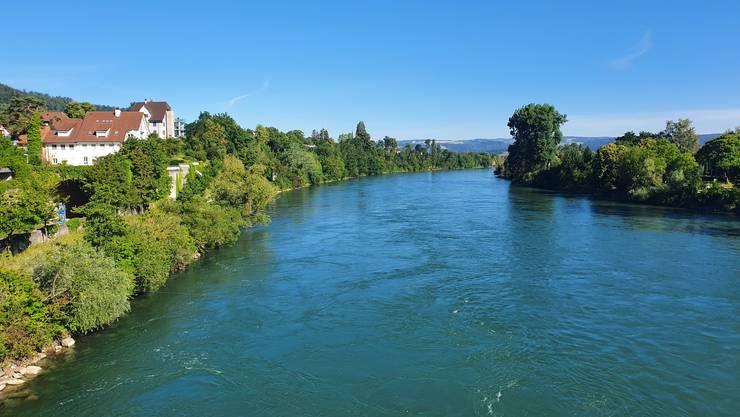 Wir überqueren in Bad Zurzach den Rhein.