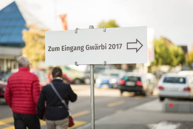 Gewerbeausstellung in Schöftland, aufgenommen am 14. September 2017. Im Bild: Impressionen von der Eröffnung.
