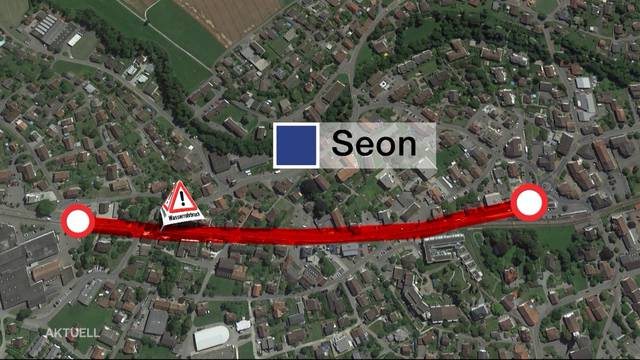 Seetalstrasse wegen Wasserrohrbruch mehrere Tage gesperrt