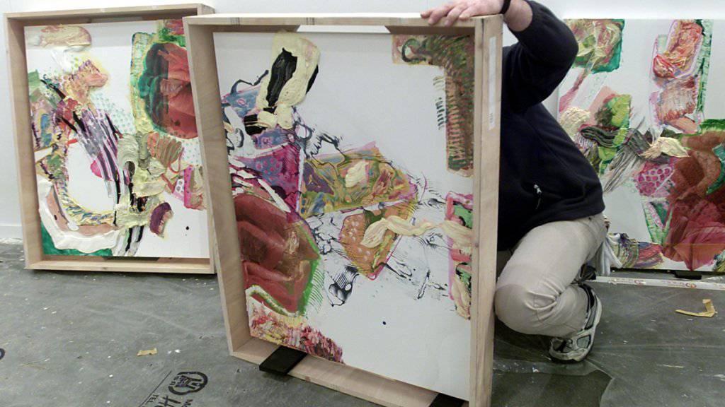 Gemälde von Pia Fries auf der spanischen Kunstmesse ARCO 2003. Die Luzernerin erhält den deutschen Altenbourg-Kunstpreis 2017. (Archivbild)