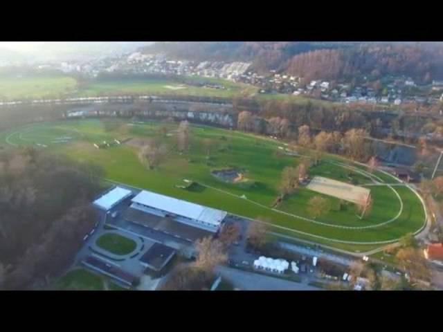 Drohnenaufnahme Pferderennbahn Schachen Aarau (Teil 1)