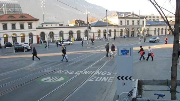 Die Bahnhofstrasse in Chur.
