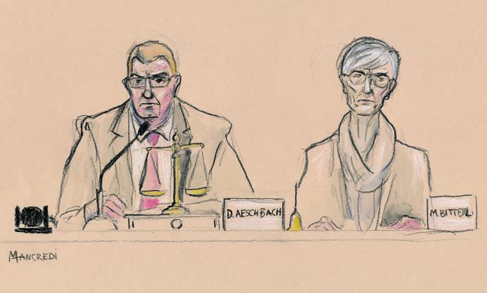 Gerichtszeichung von der Urteilsverkündung am Freitag
