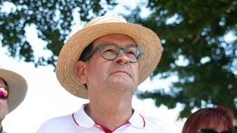 Andreas Eng (weisses Hemd): Staatsschreiber und OK-Präsident des Solothurner Auftritts.