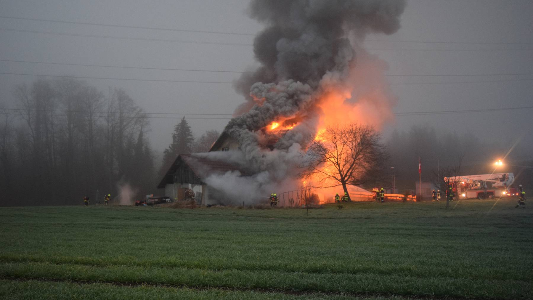 Einfamilienhaus in Rain abgebrannt