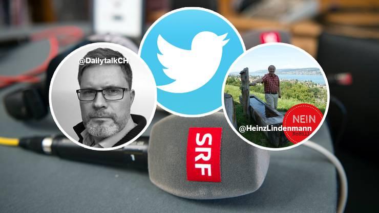 Viele Nutzer twittern anonym, Alexander Müller (@dailytalk) und Heinz Lindenmann (@HeinzLindenmann) nicht.