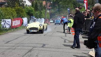Microcars am Start zum GP Mutschellen 2014 – auch am Sonntag werden hier die Räder wieder durchdrehen.