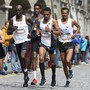 Tadesse Abraham, vorne rechts, lief am GP Bern einmal mehr aufs Podest
