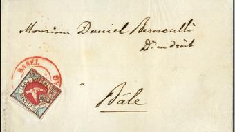 Der Briefmarken Prüfer Hans Hunziker hat einen Teil seiner Sammlung dem Zoo Basel vermacht. Diese wird nun versteigert, um ein neues Vogelhaus zu finanzieren. Im Bild: Ein Basler Dybli Brief aus dem Archiv von Hunziker.