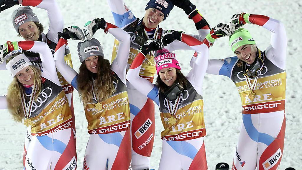 Gute Laune im erfolgreichen Schweizer Team.