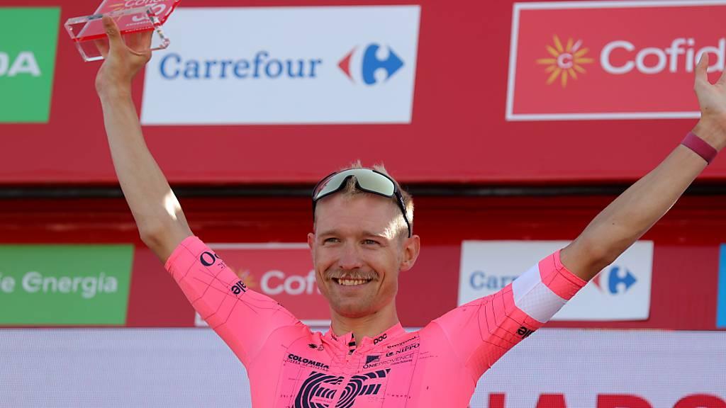 Magnus Cort Nielsen vom team EF Education-Nippo feierte seinen zweiten Etappensieg an der diesjährigen Spanien-Rundfahrt