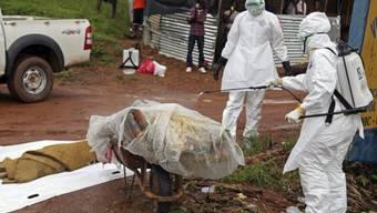 Ebola-Opfer am Freitag in Liberia