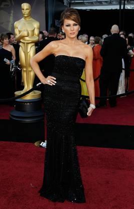 Mit dem Rampenlicht hat Melania Trump als ehemaliges Modell keine Mühe - hier posiert sie vor der Oscar-Verleihung in Los Angeles im Februar 2016.