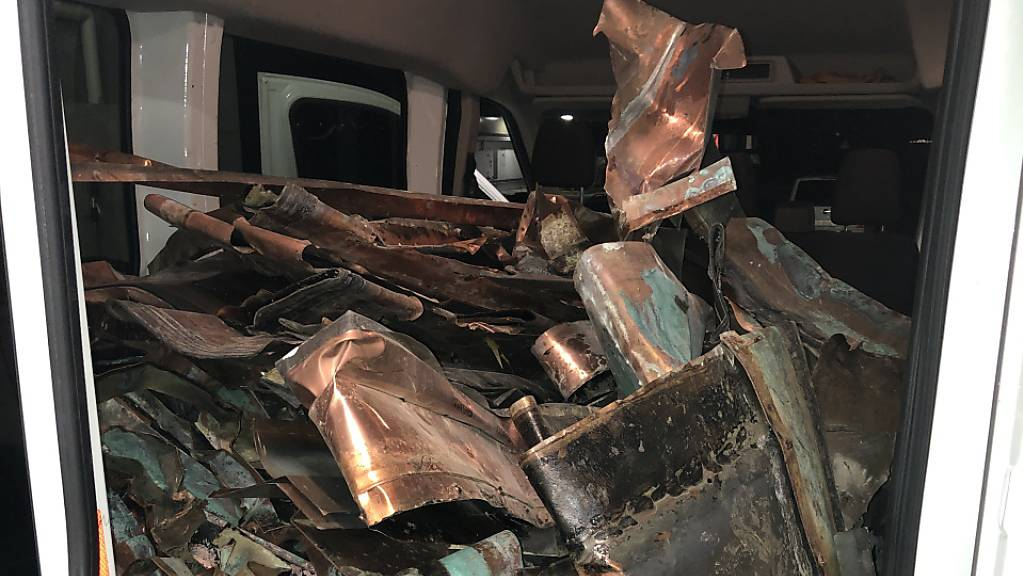 Ein Mann hatte in seinem Lieferwagen Kupfer transportiert, das zuvor in Mörschwil gestohlen worden war. Er wurde festgenommen.