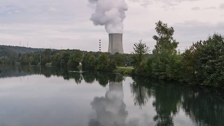 Blick auf das Atomkraftwerk Gösgen: Gleich mehrere Parteien fassen die Parolen zur Atomausstiegsinitiative der Grünen. (Archiv)