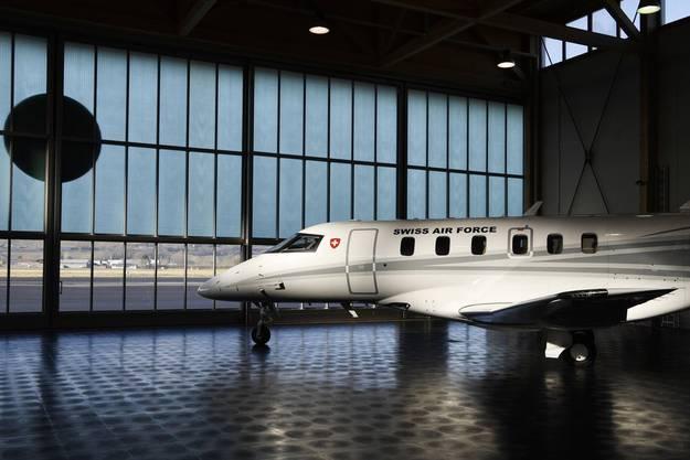 Seit 2019 ist neben einer Dassault Falcon 900 und einer Cessna Citation Excel auch ein Schweizer Modell im Einsatz, ein Pilatus PC 24.