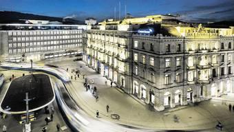 Blick auf die Banken am Zürcher Paradeplatz (Archiv)