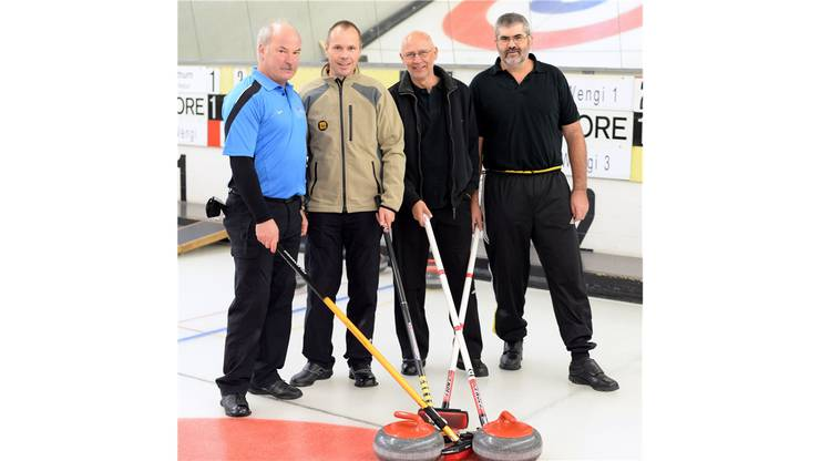 Das Siegerteam des CC Solothurn Wengi (von links): Skip Alfred Wyler, Marcel Gnägi, Dieter Emch und Albert Notti.