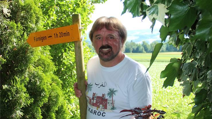 Martin Geiger wird seine Tätigkeit als Lehrer vermissen, vor allem freut er sich aufs Reisen und Wandern, wie beim Ferienhäuschen seiner Familie in Färnigen.