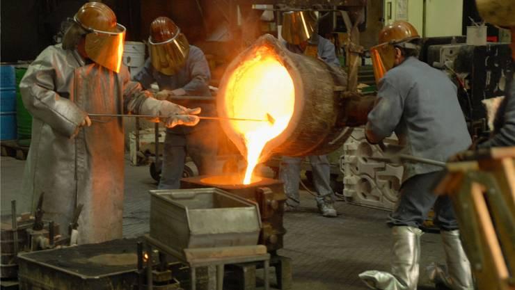 Seit 1858 wird auf dem Oederlin-Areal in Obersiggenthal Stahl gegossen – Ende Jahr wird das letzte Stück hergestellt. (Archiv)