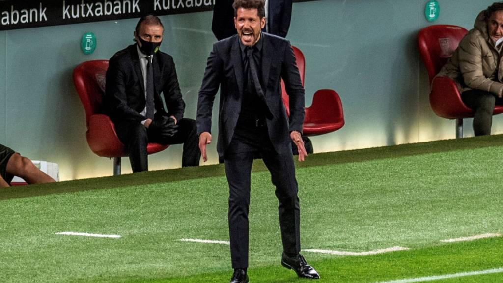 Atléticos Trainer Diego Simeone gefällt das Gezeigte nur bedingt
