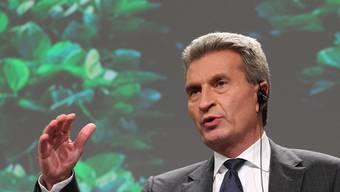 EU-Energiekommissar Günther Oettinger (Archivbild)