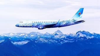 So stellte sich Powdair das Flugzeug vor, das ins Wallis fliegen sollte.