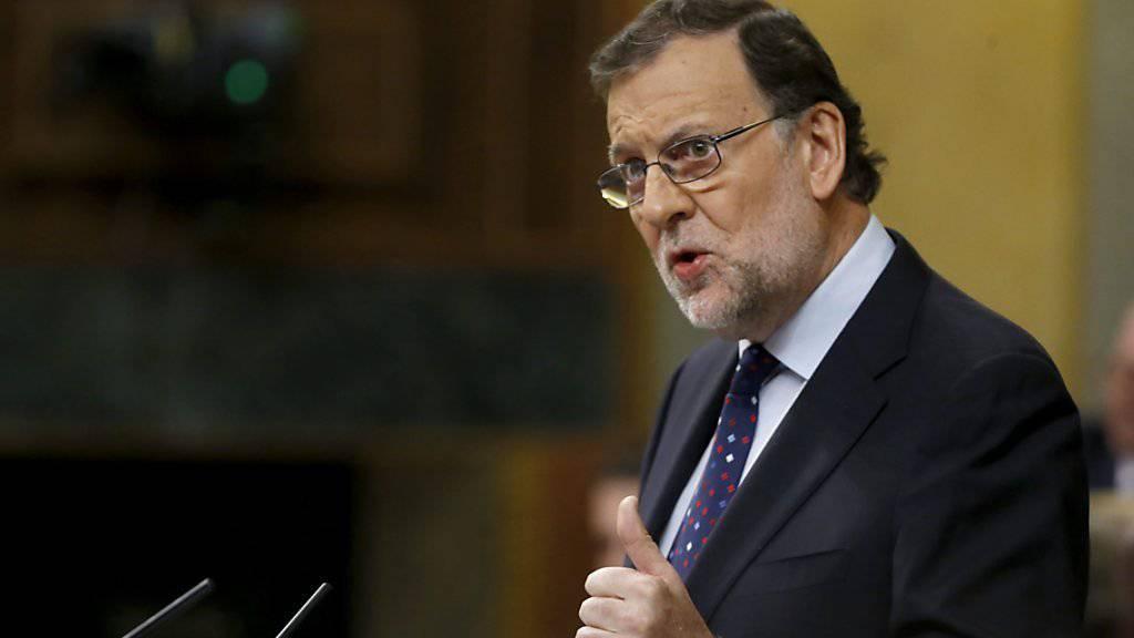 Mariano Rajoy, geschäftsführender Ministerpräsident Spaniens, bleibt nach zwei verlorenen Vertrauensabstimmungen weiter Kandidat für die Konservative Volkspartei.