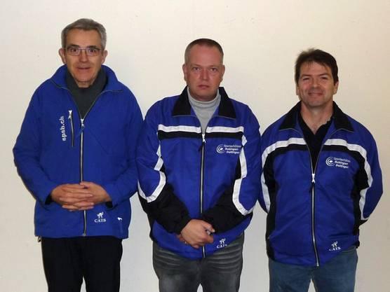 Senioren: Eduard Kerschbaumer, André Gobet und Daniel Hafner