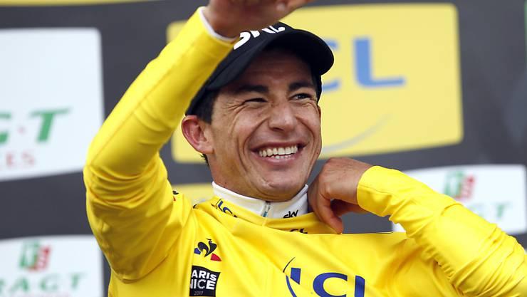 Sergio Henao rettet zwei Sekunden ins Ziel