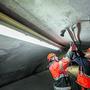 Arbeiten am Sanierungstunnel der A2 am Belchen