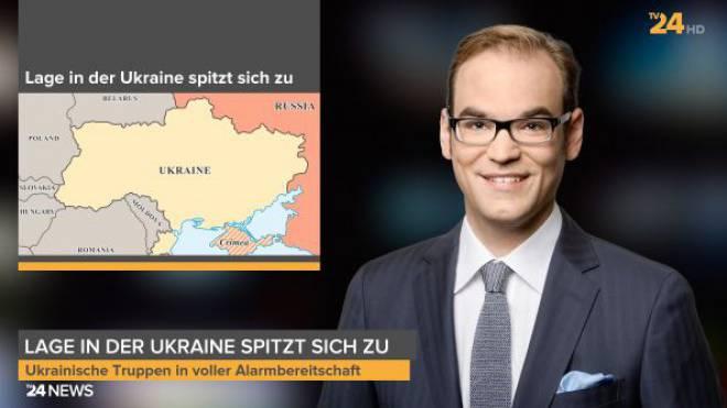 Roman Wasik wird die Nachrichtensendung auf TV24 moderieren. Bildschirmfoto: HO