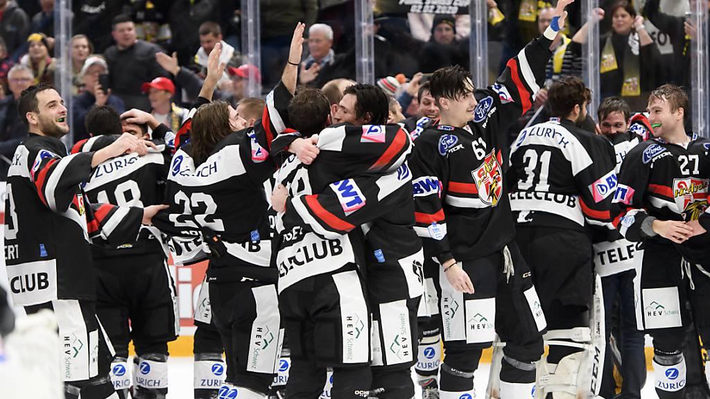 So jubelte der HC Ajoie am 2. Februar nach dem Sieg im Cupfinal über den HC Davos.