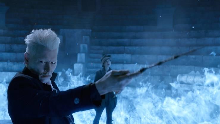 Finstere Absichten: Johnny Depp als böser Zauberer Gellert Grindelwald, der nicht zufällig an den «Harry Potter»-Bösewicht Lord Voldemort erinnert.