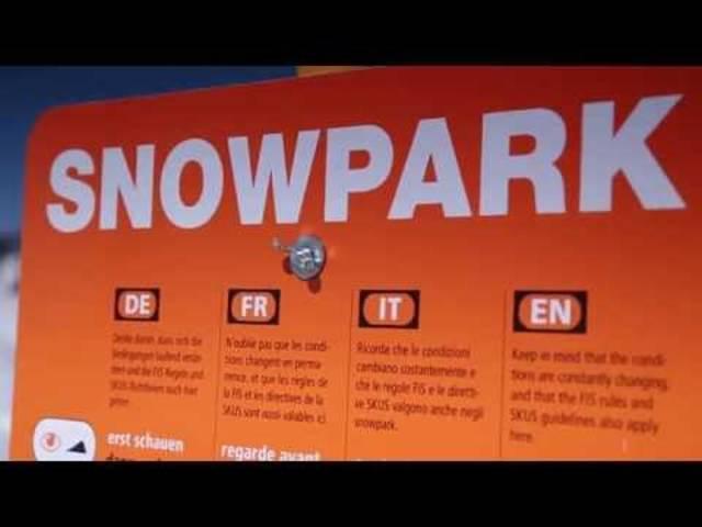 Mit diesem Video warnt die Beratungsstelle für Unfallverhütung (bfu) vor den Gefahren in Snowparks
