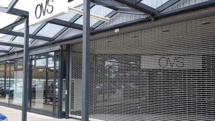 Seit Ende Juli bleibt das Gitter beim OVS-Laden im A3-Center geschlossen.