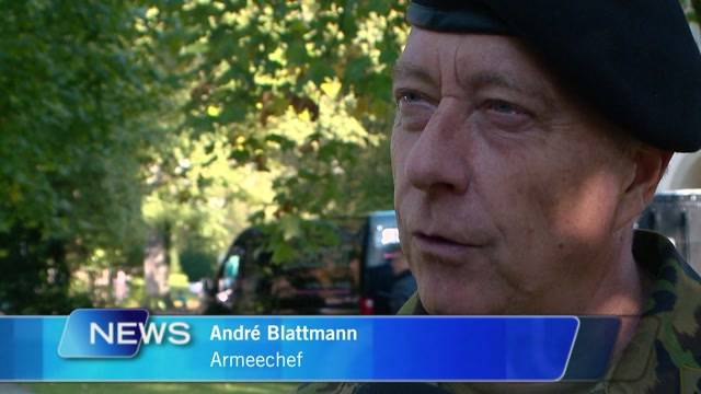 Armeechef gedenkt verunfalltem Soldaten