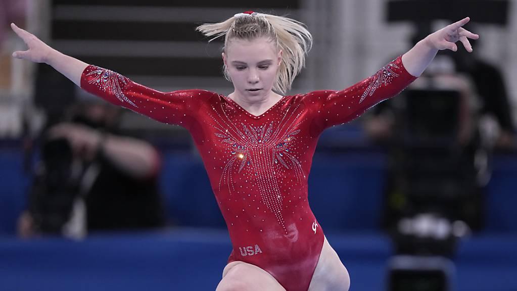 Die Amerikanerin Jade Carey gewinnt Gold am Boden