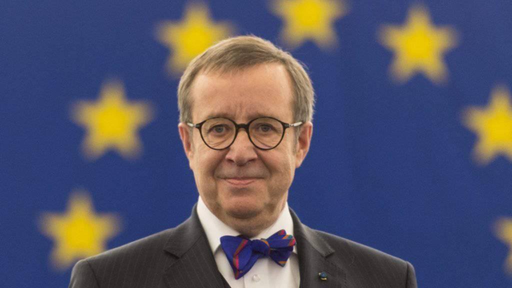 Estlands amtierender Präsident Toomas Hendrik Ilves (Archiv)