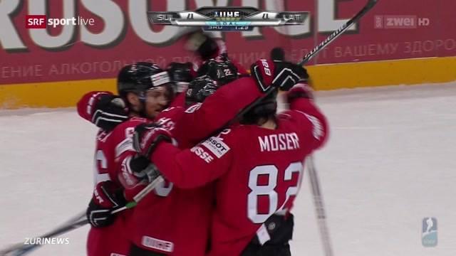 Eishockey: Schweiz schlägt Lettland