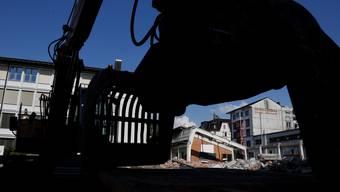 Abbrucharbeiten in der Solothurner Vorstadt