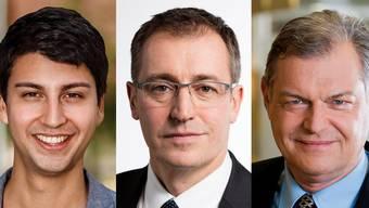Von links nach rechts: Fabian Molina, Roland Büchel und Claude Béglé.