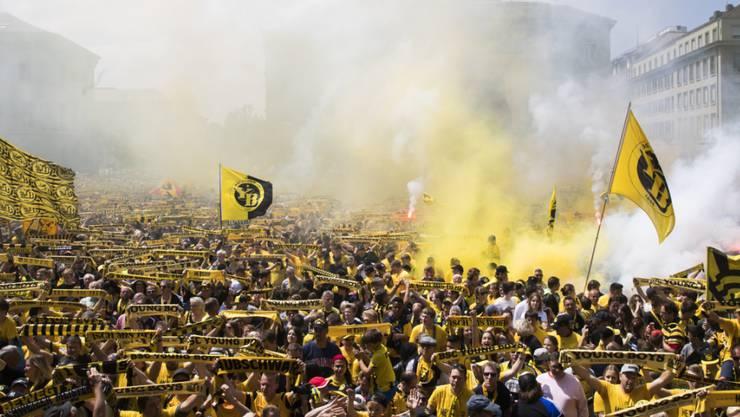 Ein solches Gedränge wie bei der YB-Meisterfeier von 2018 möchten die Berner Behörden dieses Jahr nicht.