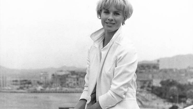 Starb im Alter von 83 Jahren: Die schwedische Schauspielerin Bibi Andersson, in einer Aufnahme von 1966 an den Filmfestspielen von Cannes. (Archivbild)